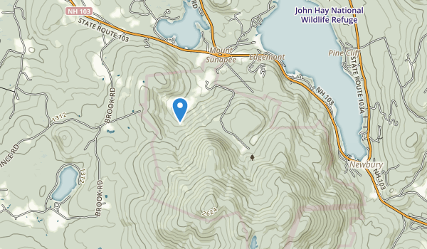 trail locations for Mount Sunapee State Park