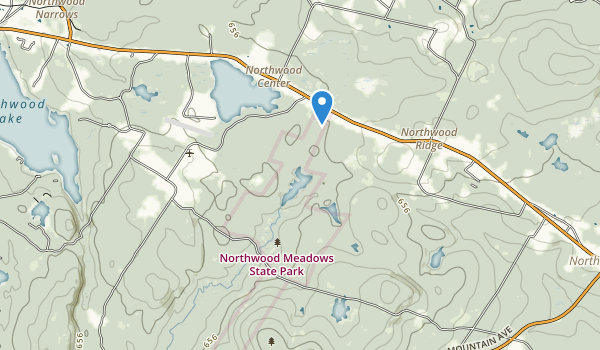 trail locations for Northwood Meadows State Park