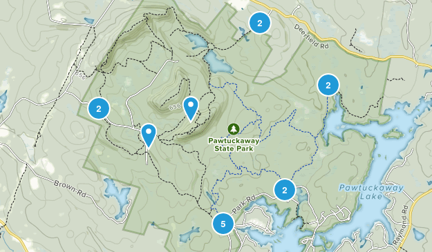 Pawtuckaway State Park Map