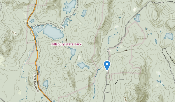 trail locations for Pillsbury State Park
