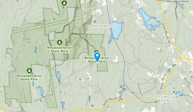 Rhododendron State Park Map