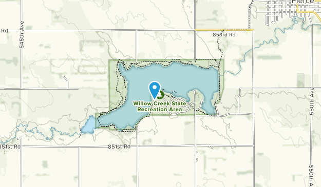 Willow Creek State Recreation Area Map