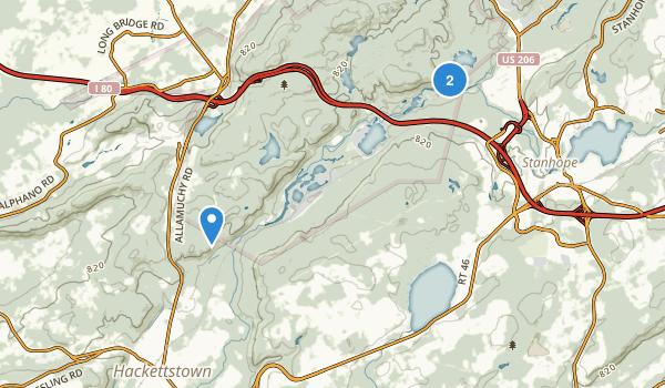 Allamuchy Mountain State Park Map