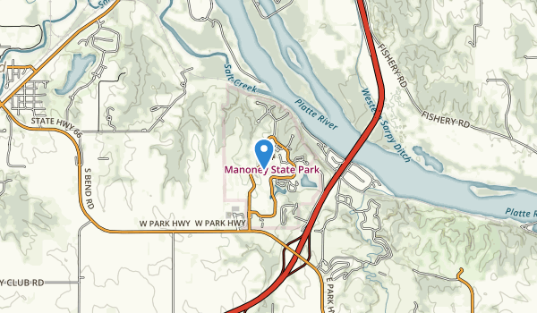trail locations for Eugene T. Mahoney State Park