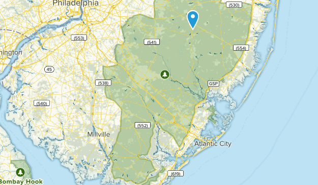Brendan T. Byrne State Forest Map