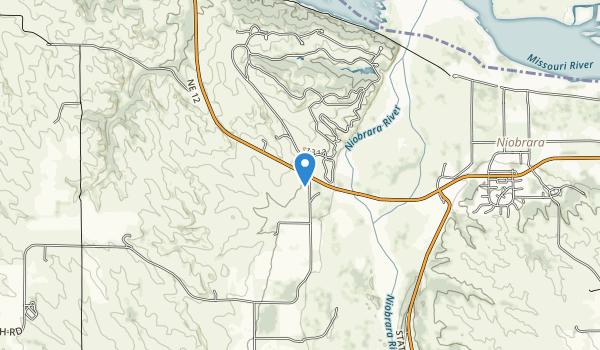 trail locations for Niobrara State Park