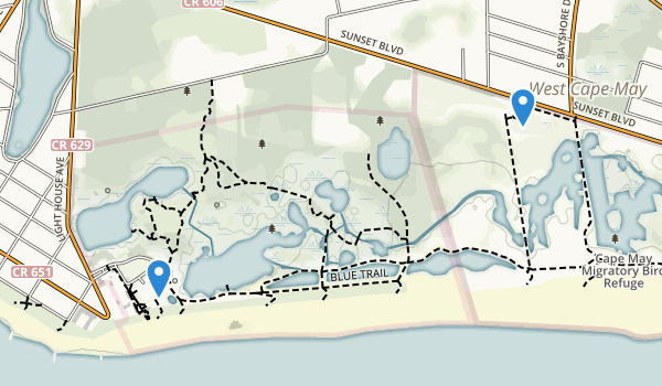 Cape May Point State Park Map