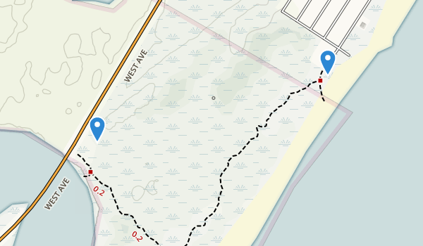 Corson's Inlet State Park Map