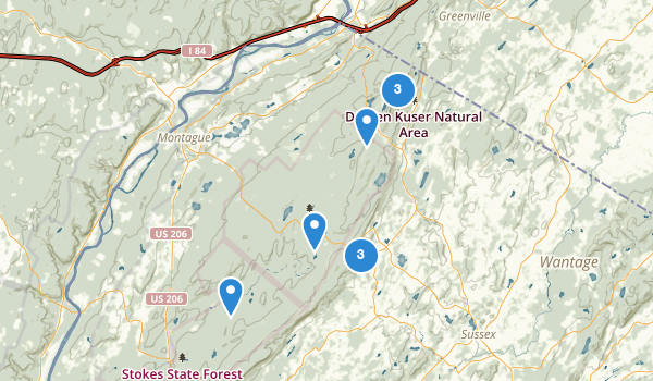 trail locations for High Point State Park