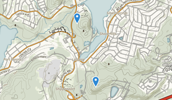 trail locations for Hopatcong State Park