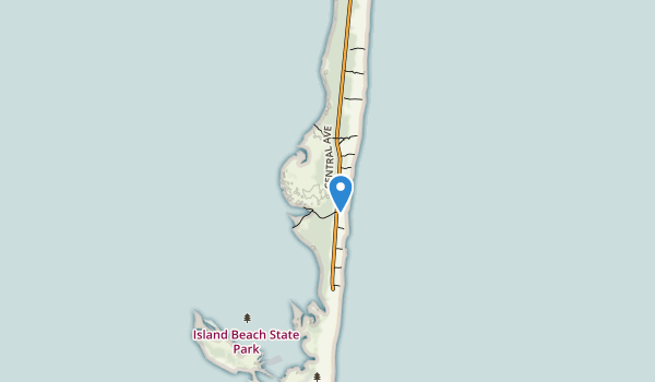 trail locations for Island Beach State Park