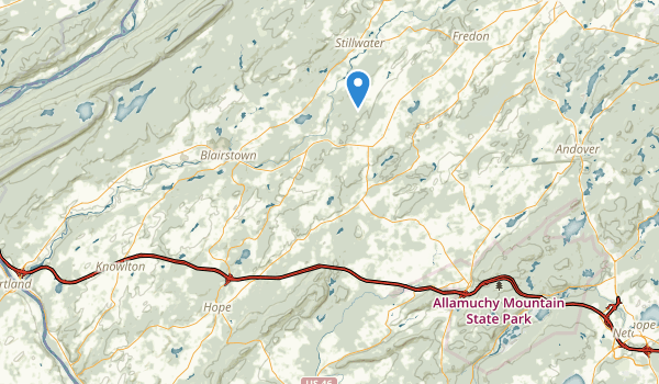 trail locations for Jenny Jump State Forest