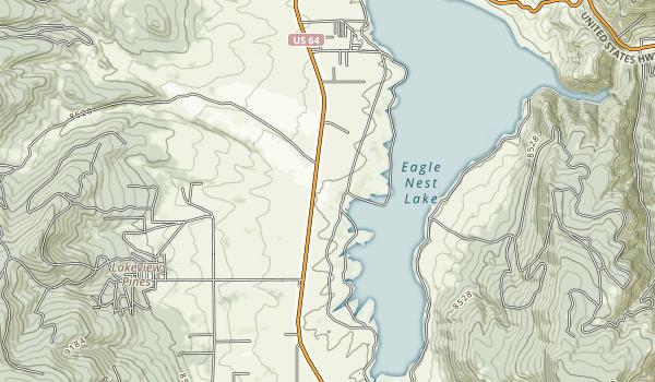 Eagle Nest Lake State Park Map