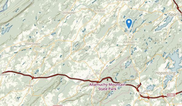 trail locations for Kittatinny Valley State Park