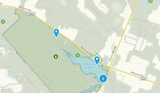 Parvin State Park Map