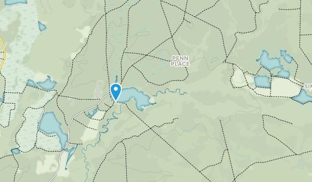 Bosque del estado de Penn Map