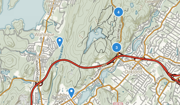 Ramapo Mountain State Forest Map