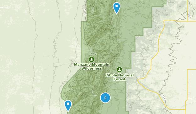 Manzano Mountains State Park Map