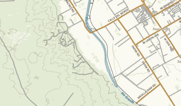 Mesilla Valley Bosque State Park Map