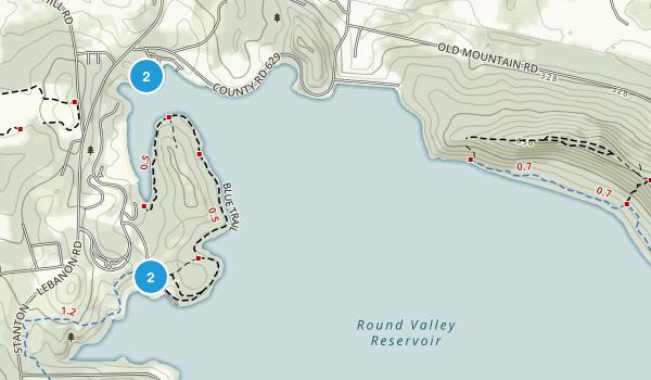 Round Valley Recreation Area Map
