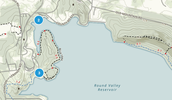 Round Valley Recreation Area Map