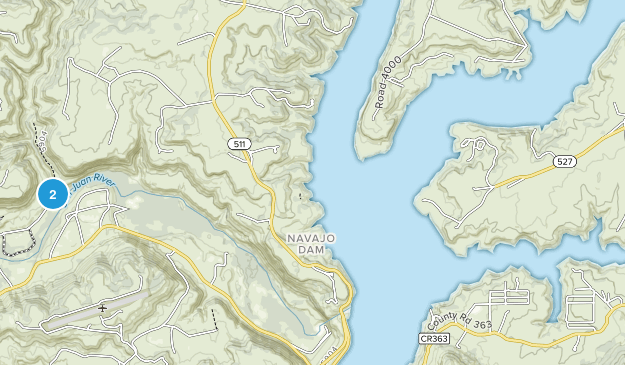 Navajo Lake State Park Map