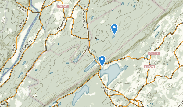 trail locations for Stokes State Forest