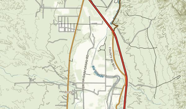 Percha Dam State Park Map