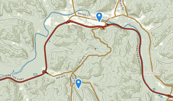 trail locations for Allegany State Park - Red House Area