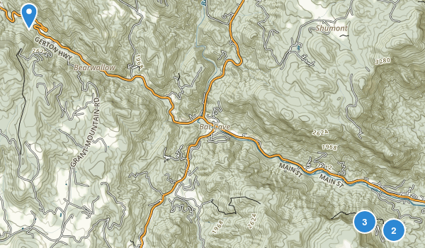 Chimney Rock State Park Map