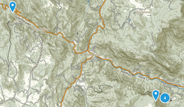 Chimney Rock State Park Map