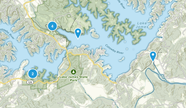 Lake James State Park Map