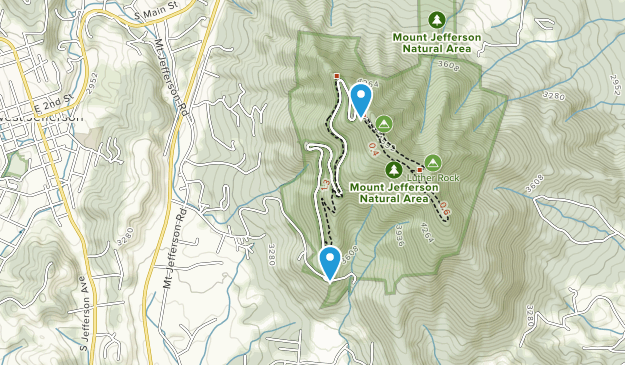 Mount Jefferson State Natural Area Map