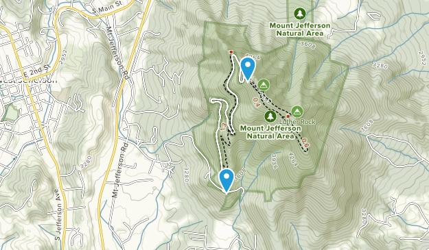 Área Natural del Estado de Mount Jefferson Map