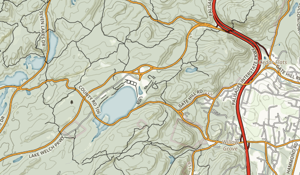 Beaver Pond Campgrounds - Harriman State Park Map