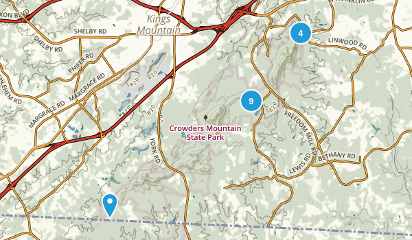 Crowders Mountain State Park Map
