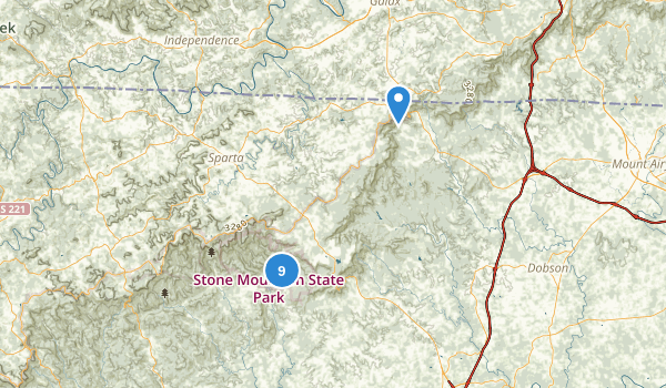 Stone Mountain State Park Map