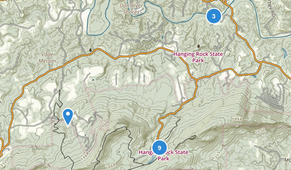 Hanging Rock State Park Map