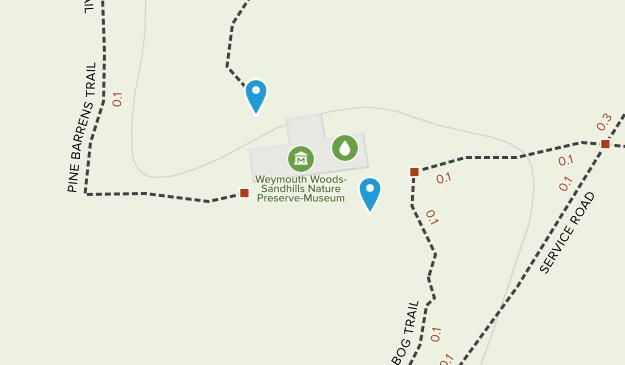 Weymouth Woods-Sandhills Nature Preserve Map