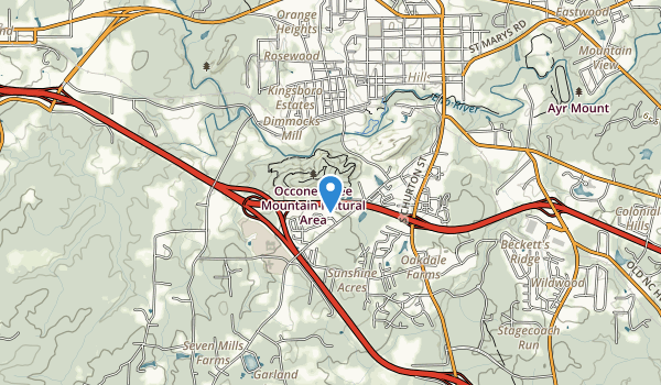 Occoneechee Mountain State Natural Area Map