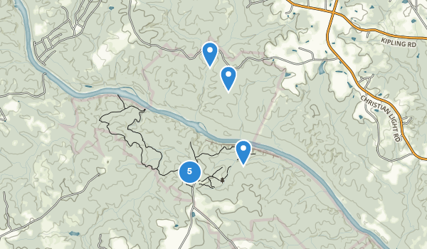 trail locations for Raven Rock State Park