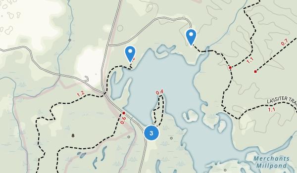 Merchants Millpond State Park Map