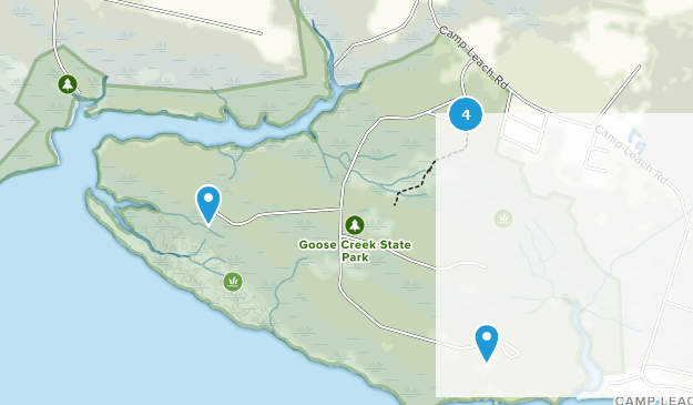 Goose Creek State Park Map