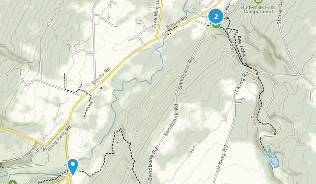 Buttermilk Falls State Park Map