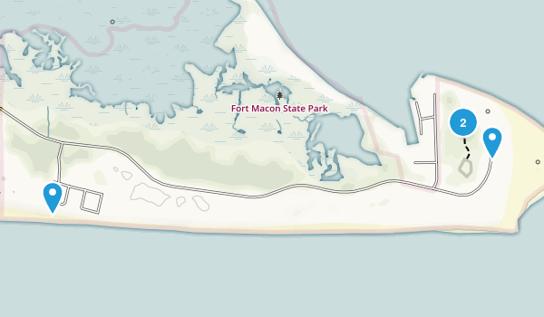 Fort Macon State Park Map