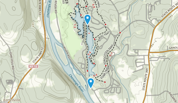 Chenango Valley State Park Map