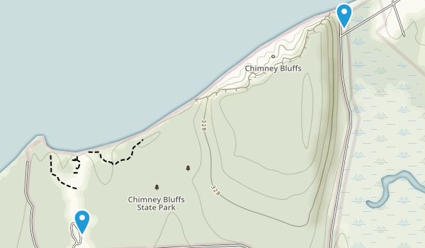 Chimney Bluffs State Park Map
