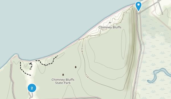 Chimney Bluffs State Park Map