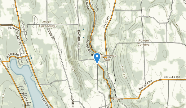 trail locations for Chittenango Falls State Park