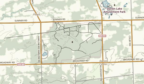 Darien Lakes State Park Map
